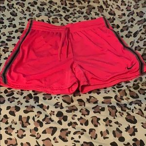 Hot pink nike dri fit shorts